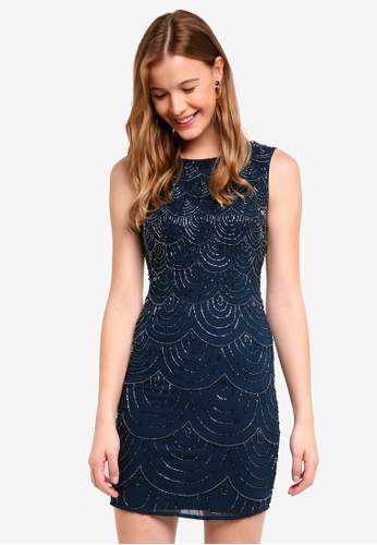 Lace & Beads navy Katlyn Dress 85358AA7EC3279GS_1