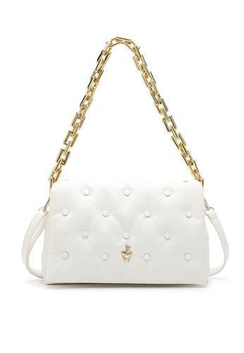 Swiss Polo white Studded Sling Bag DB99FAC1DFD012GS_1