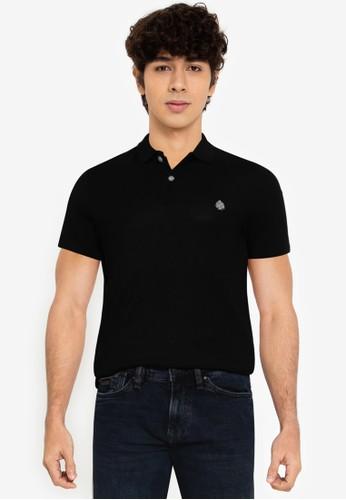 Springfield black Slim Coolmax Polo Shirt 7CDBCAA1FB59BFGS_1