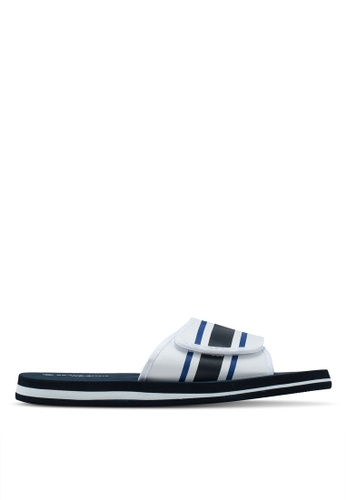Brave Soul multi and navy Mate Foam Sliders with Adjustable Straps F914BSH92DA1BEGS_1