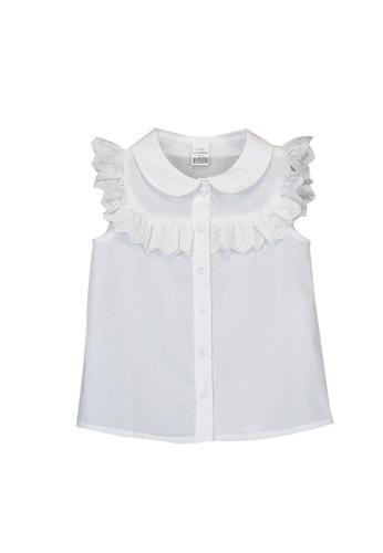 LC Waikiki white Baby Girl Frilly Poplin Shirt 42176KABAB3609GS_1