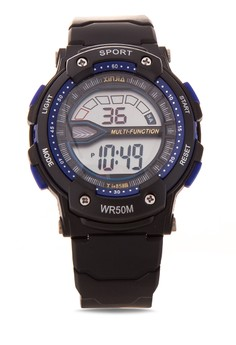 Multi-Function Sport Watch Metallic- Blue XJ-858B