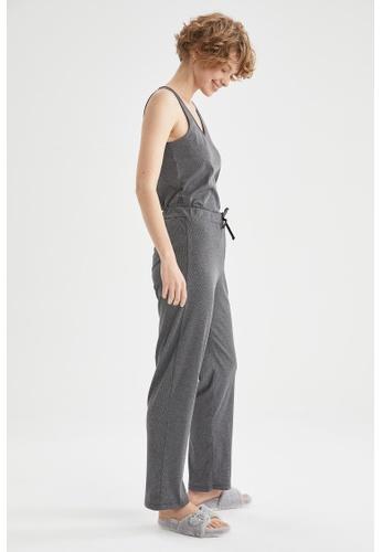 DeFacto grey Woman 2-pieces Homewear Top & Bottom Set 95B58AAF591555GS_1