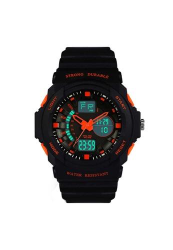 Greatnes Trading Corp orange LED Sports Electronic Watch  ZG316 GR861AC54IORPH_1