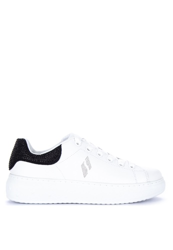 b884b596fc8f Skechers white High Street Shimmer As You Go Lace Up Sneakers  A6746SHFD6E2DFGS 1