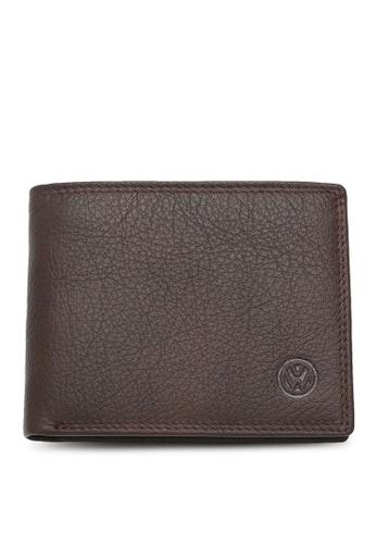 Volkswagen brown Genuine Leather RFID Wallet 39247AC9FEDBDCGS_1
