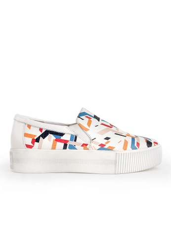 Joy & Peace white Printed Slip-On Creepers JO458SH02HMJHK_1