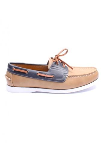 Moley brown Duo Tone Boat Shoe MO329SH53AFISG_1