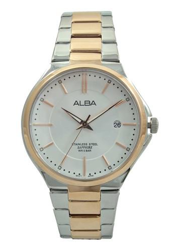 ALBA gold and silver ALBA Jam Tangan Pria - Silver Rosegold - Stainless  Steel - AS9B38 9e6eb5e85f