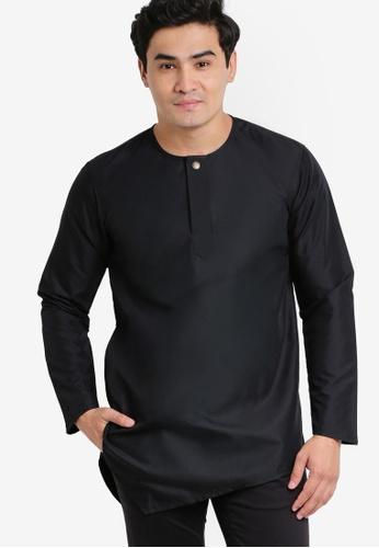 Amar Amran black Kurta Al Fattah AM362AA36JYLMY_1