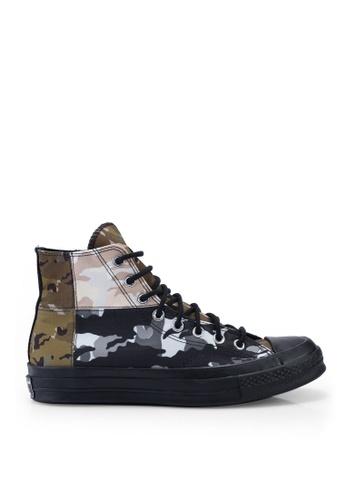 Converse green Chuck Taylor All Star 70 Hoop Hunter Hi Sneakers 25983SH18DEEAAGS_1