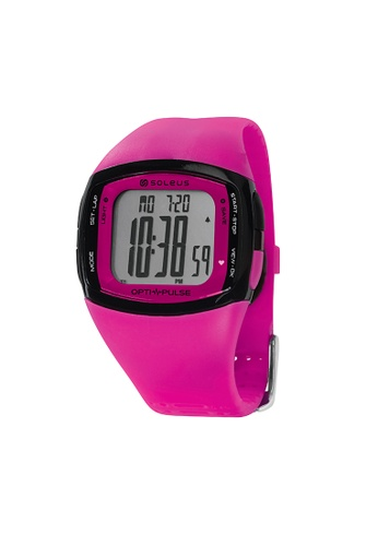 Soleus black and pink Pulse Rhythm Heart Rate Monitor SH010-611 in Pink SO231AC57ZZAMY_1
