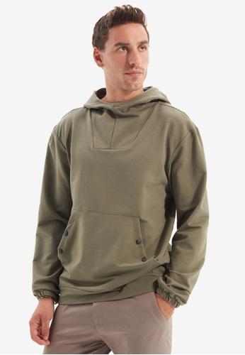 Trendyol green Khaki Hoodie ED6A0AA953F615GS_1