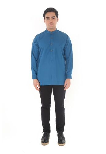 Amar Amran blue Kurta Luqman 09D6FAA75277D6GS_1