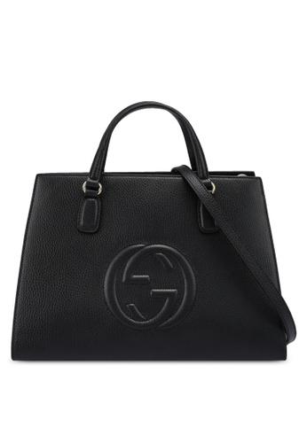 Gucci black Embossed Handbag (nt) 211BEACFA18997GS_1