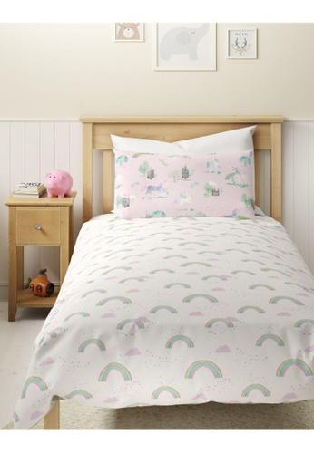 MARKS & SPENCER pink M&S Pure Cotton Unicorn Bedding Set (Single) E20BBHL9E33231GS_1