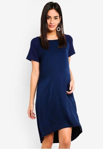 Noppies 藍色 孕婦裝 短袖洋裝 CA0C0AAAB5E1B1GS_1