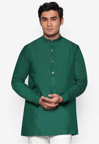 Amar Amran green Kurta  Al Hakim AM362AA79UNWMY_1