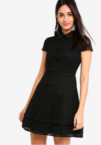 ZALORA black Collared Lace Dress ABA91AA2F9B2FBGS_1
