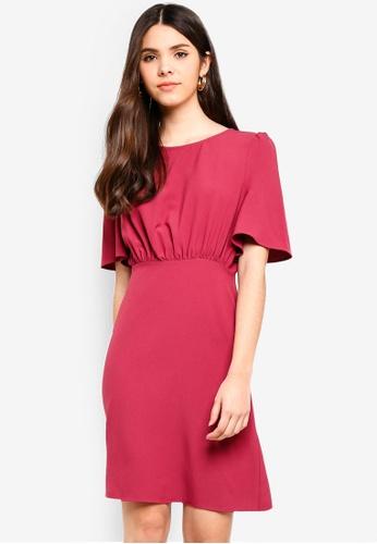 ICHI red Belinda Dress 35C0FAA5E8E863GS_1