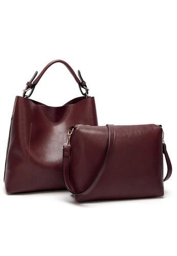 Lara red Women Vintage Handbag Set with Crossbody Bag 80CDBAC27AA599GS_1