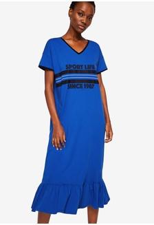 766096044ce Long Cotton Dress 17338AA57172FBGS 1