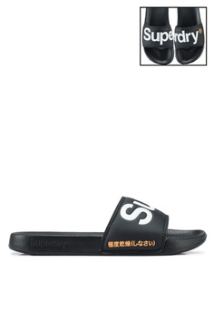 0a2410b5929c Superdry black Superdry Pool Slides 259A1SHA50984EGS 1