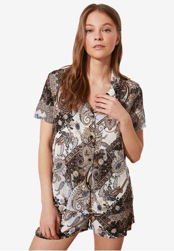 Trendyol 多色 短袖睡衣組 38256AA7598ED5GS_1