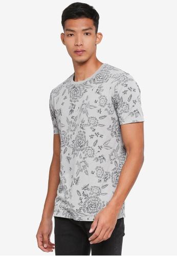 Only & Sons 黑色 短袖印花T恤 9E671AAD9DA155GS_1