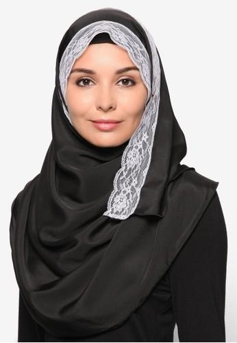 Plain Scarf with Lace, zalora 評價服飾, 女性服飾