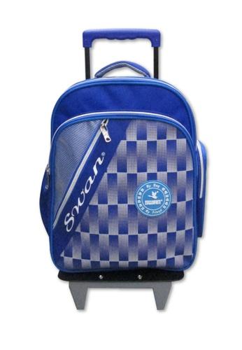 Swan blue Swan Kid Children School Bag Huge Roll (Blue) Spinal Protection Back Support  Swan Series Swan Bag B6030KC1258EDBGS_1
