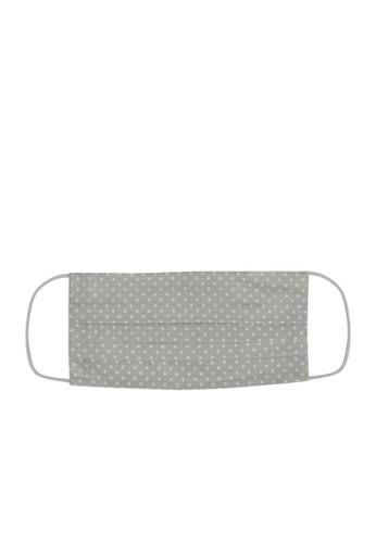 MAYONETTE grey MAYONETTE Masker Kain Premium Cotton 2 Ply + Kawat Hidung Nose Wire Bisa Diisi FIlter - 12 Pcs - Polkadot Grey 9AB0CES0314A78GS_1