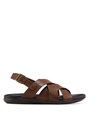 Bata brown Strap On Sandals EB01BSHA5F60F1GS_1