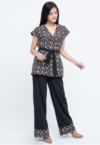 SAVI Batik black and brown Gypsy Batik Kimono Set 73098AA700207AGS_1