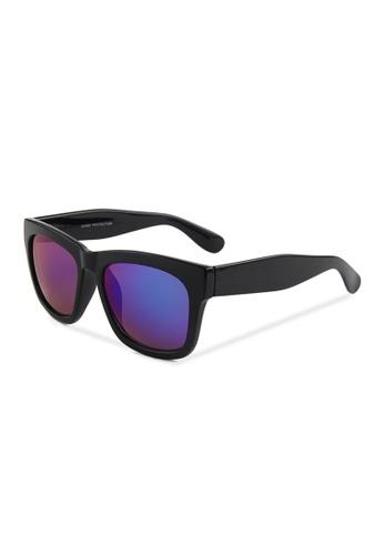 Quattrocento Eyewear Quattrocento Eyewear Italian Sunglasses with Blue Lenses Model De Santis D4191GL763A9E7GS_1