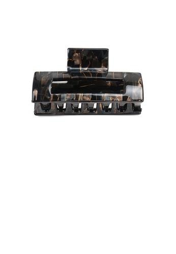 Glamorousky black Simple Fashion Gold Black Pattern Geometric Hair Claw 6E2FEAC866BACEGS_1