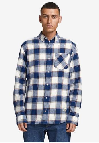 Jack & Jones white Camden Long Sleeves Shirt 83D83AA39768DDGS_1