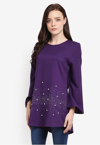 BYN purple Muslimah Blouse 8B4B3AAA03627BGS_1