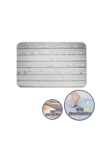 HOUZE HOUZE - Slatted Wood Diatomite Mat (Silver Grey) B72D2HL3735006GS_1