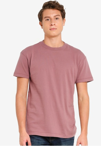 Abercrombie & Fitch pink Essential Crews T-Shirt 29AEBAAC284216GS_1