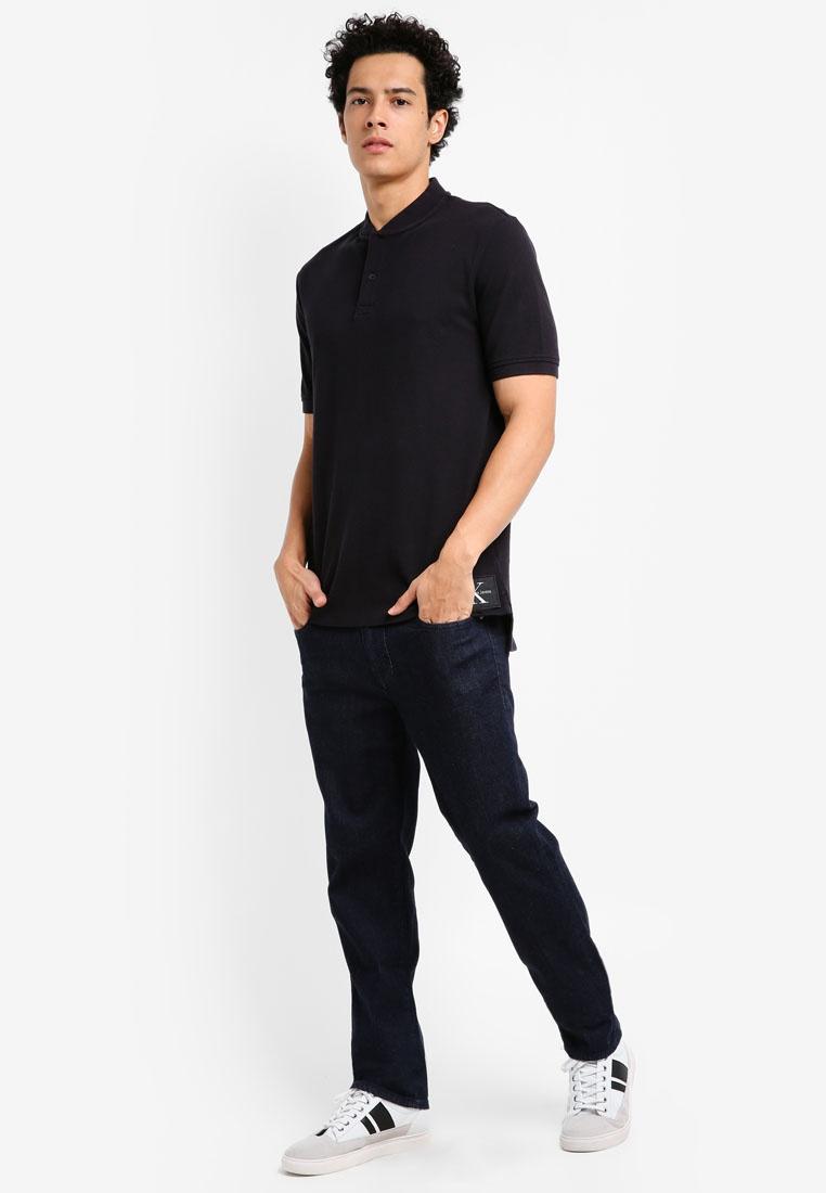 Polo 2 Jeans Shirt Klein Calvin Primo Klein Calvin Black Regular OEadxwq
