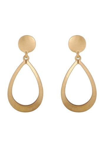 A-Excellence gold Abstract Open Design Golden Texture Earrings ABA66AC3E4932EGS_1
