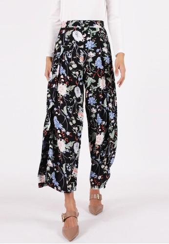 MAGNOLIA black Floral Culottes BCD73AA3FAD9FDGS_1