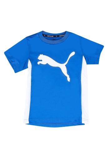 PUMA blue Active Sports Poly Tee 091E2KA776C7D1GS_1