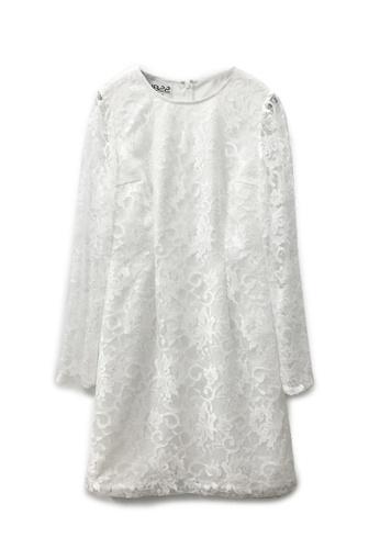 Sunnydaysweety white Hong Kong Designer 1822 Retro Lace dress  DF03086 9C248AA9984F8CGS_1