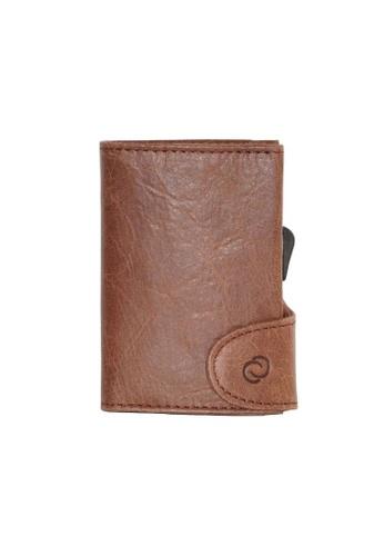 C-Secure brown C-Secure PU Leather Wallet (1703) - Dark Brown EAE40AC5A8C922GS_1