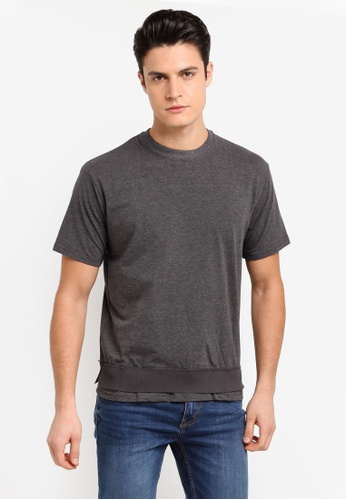 Sparrow Green grey Belden Ceramic Rib-Cinched Slim T-Shirt EFF06AA8CB8F32GS_1