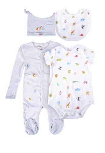 Cath Kidston white Nursery Animals 4pk Baby Starter Set E168BKAA9BEFD6GS_1