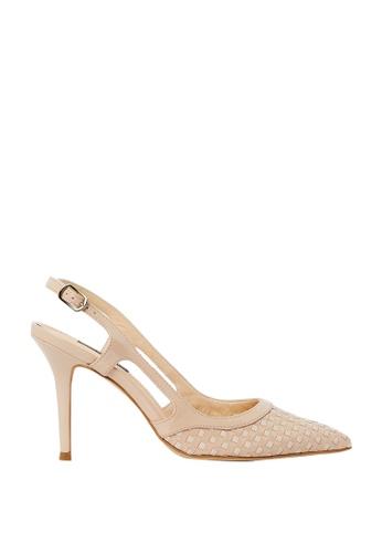 Nina Armando beige Bridget Patent Leather Slingback High Heel NI342SH0FV8VSG_1