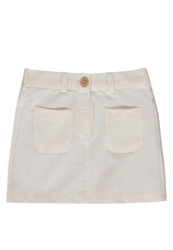 LC Waikiki beige Baby Girl's Gabardine Skirt AFCA2KAEF2F28DGS_1